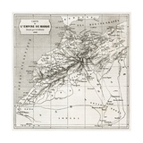 Morocco Old Map Created By Erhard And Bonaparte  Published On Le Tour Du Monde  Paris  1860