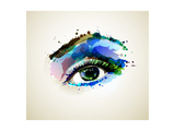 Beautiful Fashion Woman Eye Forming By Blots Reproduction d'art par Artant