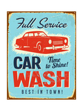 Vintage Metal Sign - Car Wash - Jpg Version