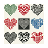 Abstract Heart Icons Design Elements For Scrapbooking