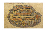 Map Of Jerusalem In Mosaic  Cardo  Jerusalem  Israel