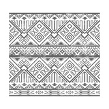 Abstract Geometric Seamless Aztec Pattern Ikat Style Pattern