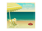 Tropical Beach Summer Poster