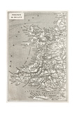 Wales Old Map Created By Erhard And Duguay-Trouin  Published On Le Tour Du Monde  Paris  1867