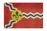 Grunge City Flag Of St Louis City In Missouri In The USA