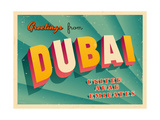 Vintage Touristic Greeting Card - Dubai  United Arab Emirates
