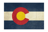 Grunge Colorado State Flag Of America  Isolated On White Background