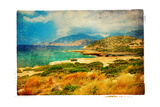 Emerald Bay - Artwork In Retro Painting Style