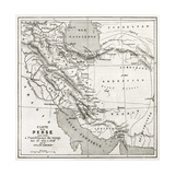 Persia Old Map Created By Vuillemin  Published On Le Tour Du Monde  Paris  1860
