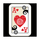 Hand Drawn Deck Of Cards  Doodle Ace Of Hearts