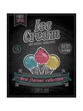 Vintage Ice Cream Poster - Chalkboard