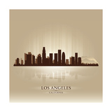Los Angeles  California Skyline City Silhouette