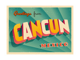 Vintage Touristic Greeting Card - Cancun  Mexico