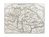 Old Map Of Hungary By Unidentified Author  Published On Magasin Pittoresque  Paris  1850