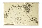 Old Map Of Gulf Of Palermo  Italy Printed In 1764
