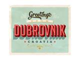 Vintage Touristic Greeting Card - Dubrovnik  Croatia