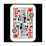 Hand Drawn Deck Of Cards  Doodle King Of Hearts