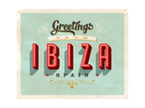 Vintage Touristic Greeting Card - Ibiza  Spain