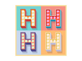 Simple And Clear Flat Lamp Alphabet - Letter H