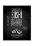 Vintage Sushi Bar Poster - Chalkboard