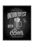 Vintage Beer Brewery Poster - Chalkboard