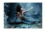 Mythology Being  Mermaid In Underwater Scene  Photo Compilation