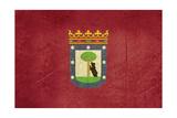 Grunge Illustration Of Madrid City Flag  Spain