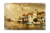 Kastelorizo Bay - Artistic Retro Styled Picture