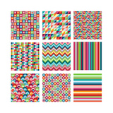 Collection Of Nine Bright Geometrics