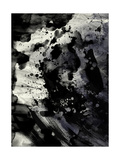Abstract Black Ink Painting On Grunge Paper Texture