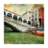 Colors Of Beautiful Venice - Artwork In Painting Style - Rialto Bridge