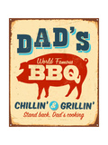 Vintage Metal Sign - Dad'S Bbq