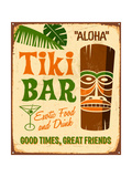 Vintage Metal Sign - Tiki Bar