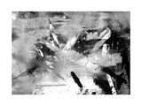 Abstract Black And White Painting On Grunge Paper Texture