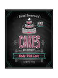Cakes Poster - Chalkboard