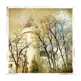 Fairy Winter Castle - Retro Styled Picture
