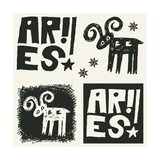 Naive Abstract Horoscope  Hand Drawn Sign Of The Zodiac Aries