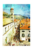 Ancient Dubrovnik - Artistic Picture In Painting Style