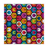 Colorful Geometric Pattern With Hexagons
