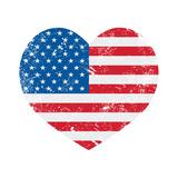 United States On America Retro Heart Flag
