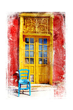 Old Traditional Greek Doors - Artwork In Painting Style