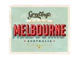Vintage Touristic Greeting Card - Melbourne  Australia