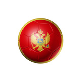 Soccer Football Ball With Montenegro Flag