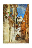 Italian Old Town Streets- LeccePicture In Painting Style