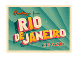 Vintage Touristic Greeting Card - Rio De Janeiro  Brazil