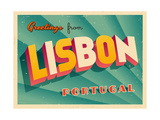 Vintage Touristic Greeting Card - Lisbon  Portugal