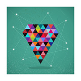 Retro Hipsters Trendy Triangle Diamond Illustration