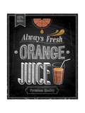 Vintage Orange Juice - Chalkboard