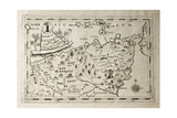 Old Map Of Capuchins Province Of Messina  Sicily The Map May Be Dated To The 17Th C