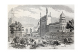 Old Illustration Of Main Street In Lucknow  India